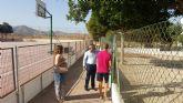 El alcalde visita el colegio público 'Ginés Cabezos Gomariz' de Roche en la apertura del curso escolar