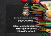 Manana se abre el plazo para solicitar subvenciones para libros y material de 2o ciclo de Educación Infantil