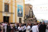 La Virgen del Rosario pasea por las calles de Puerto Lumbreras para celebrar su onomástica