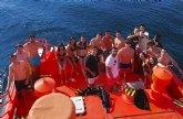 Los alumnos del Grado en Seguridad de ISEN participan en un simulacro de rescate en aguas de Mazarrón