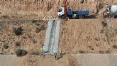 La CHS finaliza las obras de emergencia contra avenidas en la presa del Paret�n de Totana