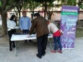 Podemos Alcantarilla saca el debate sobre los presupuestos municipales 2019 a la calle