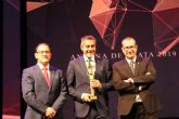 Juan Alfonso Cervantes premiado con la Antena de Plata a profesional de la Televisón de la ARTV de Murcia