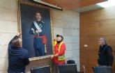 Se devuelve el cuadro del rey Felipe VI cedido temporalmente por un vecino de Totana con motivo de la celebración del Centenario de la Ciudad 1918-2018