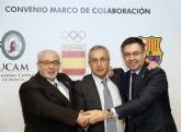 La UCAM y el Barça Innovation Hub inician su colaboración formativa