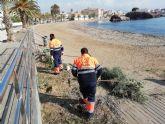 Las playas de Puerto de Mazarrón objeto de las primeras mejoras en el nuevo año