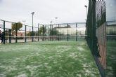 Renovadas las pistas de pádel en las instalaciones deportivas de Mazarrón y Puerto