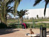 Vecinos de San Pedro del Pintar limpian el parque canino