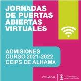 Jornadas de puertas abiertas virtuales en los colegios de Alhama. Admisiones curso 2021-2022