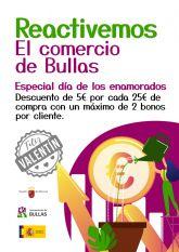 La Concejalía de Comercio lanza la campaña 'Reactivemos el comercio de Bullas' coincidiendo con San Valentín