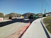 Comienzan las obras de asfaltado en la rotonda de la carretera RM-F43 en La Unión