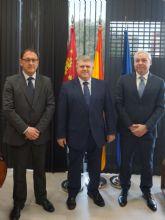 Gaspar Miras y Gin�s Campillo se re�nen en Murcia con el nuevo Delegado del Gobierno, Jos� V�lez