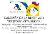Punto de asistencia al contribuyente para la campaña de la Renta 2018