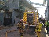 Incendio declarado en un silo de serrín en Moratalla