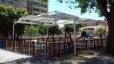 Cuatro zonas de juegos infantiles de El Ranero, el Infante y Santiago y Zaraíche ya disponen de pérgolas de sombraje