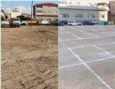 El Ayuntamiento de Beniel habilita más de 90 plazas de aparcamiento en la Urbanización Sur