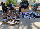 La Guardia Civil incauta cerca de medio millar de productos falsificados en San Javier