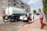 Limpieza de imbornales y canalizaciones para prevenir inundaciones.