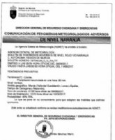 La Regi�n de Murcia se encuentra en alerta naranja por inundaciones a partir de esta tarde y hasta mañana