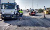 Comienza en La Serreta la segunda fase de las obras de asfaltado de las áreas empresariales de Molina de Segura