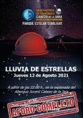 Más de 200 lumbrerenses y visitantes disfrutarán el próximo jueves de 'La lluvia de estrellas' en el Cabezo de la Jara