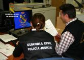 La Guardia Civil detiene a una persona por delitos de daños informáticos y extorsión a una empresa de Fuente Álamo