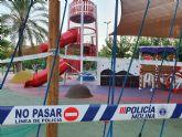 Las instalaciones deportivas y las zonas de juegos infantiles de todos los parques y jardines del municipio se cierran a partir de hoy para evitar posibles contagios