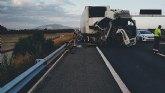 Fallece el conductor de un cami�n implicado en un accidente de tr�fico ocurrido en la A-7, Totana