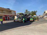 Las obras de la avenida de Murcia en Balsicas finalizarán en los próximos días