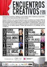 La Concejalía de Cultura de Molina de Segura pone en marcha el programa Encuentros Creativos en torno al Teatro