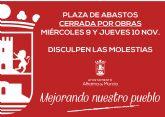 La Plaza de Abastos permanecer� cerrada este mi�rcoles y jueves