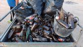 Limpieza del final de la Rambla del Chorrillo (rambla del taller), del pasado sábado