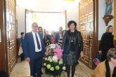 Los vecinos de El Esparragal-La Estación homenajean a su patrona con la ofrenda floral