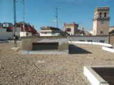 Arreglan la techumbre del Centro Municipal de la plaza Balsa Vieja