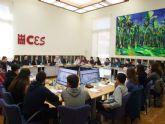 El Consejo Económico y Social de la Región de Murcia recibe a alumnos del IES Diego Tortosa de Cieza