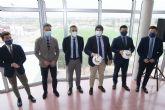 López Miras inaugura el campo de fútbol del futuro complejo deportivo de la Facultad de Ciencias del Deporte de la UMU