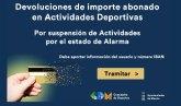 Murcia devuelve a los usuarios del programa deportivo docente el importe pagado desde la declaración del estado de alarma