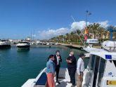 El consejero de Medio Ambiente presenta en Águilas 'Astilux', una nueva embarcación para la protección de las reservas marinas de la Región de Murcia