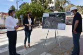 Alcaldesa y Consejero de Agricultura visitan las obras de construcción del colector de aguas residuales de avenida Río Segura que costará 760.000 euros