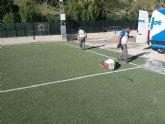 Comienzan los trabajos de reparación en el campo de fútbol de la era