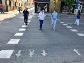 Molina de Segura adapta los pasos de peatones a la actual situación de la pandemia COVID-19