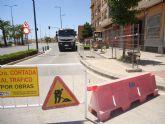 Comienzan las obras para la instalación de un tramo de la red de alcantarillado entre la avenida Juan Carlos I y la calle Ramón y Cajal