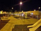 STV Gestión desinfecta todas las zonas infantiles y áreas recreativas de los parques de Torre Pacheco
