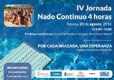 El Polideportivo Municipal 6 de diciembre acogerá el próximo 21 de agosto la IV Jornada de nado continuo