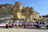Los informadores-sensibilizadores de Cruz Roja en playas mantienen un encuentro con el alcalde de Mazarrón