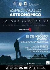 Lluvia de Perseidas. La explanada del Castillo de Caravaca acoge un espectáculo astronómico