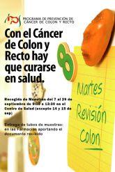 Un año más llega a Las Torres de Cotillas el programa de prevención de cáncer de colon