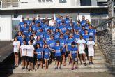 La concejala de Deportes Estíbaliz Masegosa felicitó a los deportistas del UCAM Escuela de Piragüismo Mar Menor, de San Javier