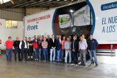 El simulador de conducción de Froet realiza su primera salida de formación a la empresa Hermanos Corredor de Cieza