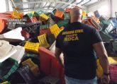 La Guardia Civil recupera en una nave industrial 11.000 metros de manguera, medio millar de cajas de plástico y ocho contenedores de basura
